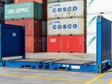 Моской контейнер flat rack 20 футов б/у SZLU 2026060